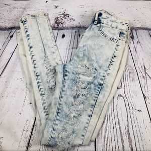 Dollhouse Distressed Juniors Super Cute Jeans